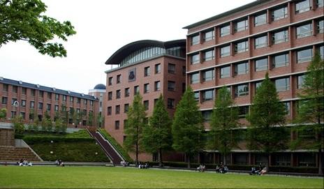 khuôn viên trường đại học kansai nhật bản