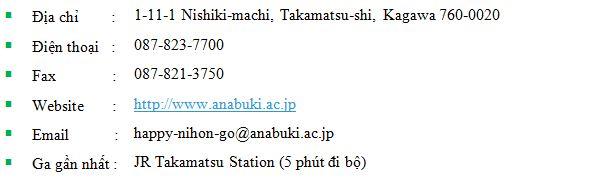thông tin cơ bản về học viện nhật ngữ Anabuki