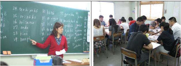 giờ học tại trường nhật ngữ johoku