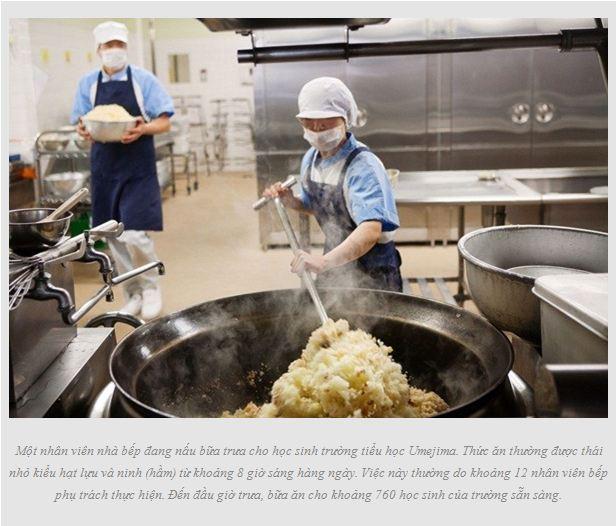 bữa trưa tại trường học Nhật Bản