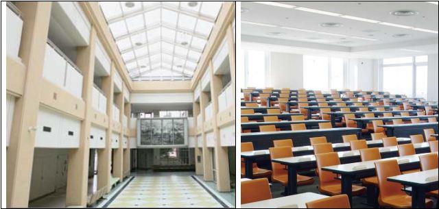 Hành lang và thư viện trường