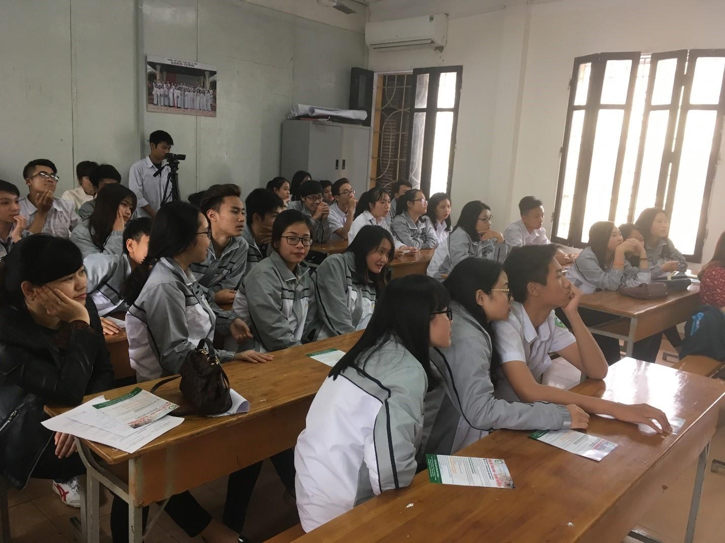 Hình ảnh: 30 học sinh ưu tú lớp tiếng Nhật khối 10, 11 trong buổi giao lưu văn hoá
