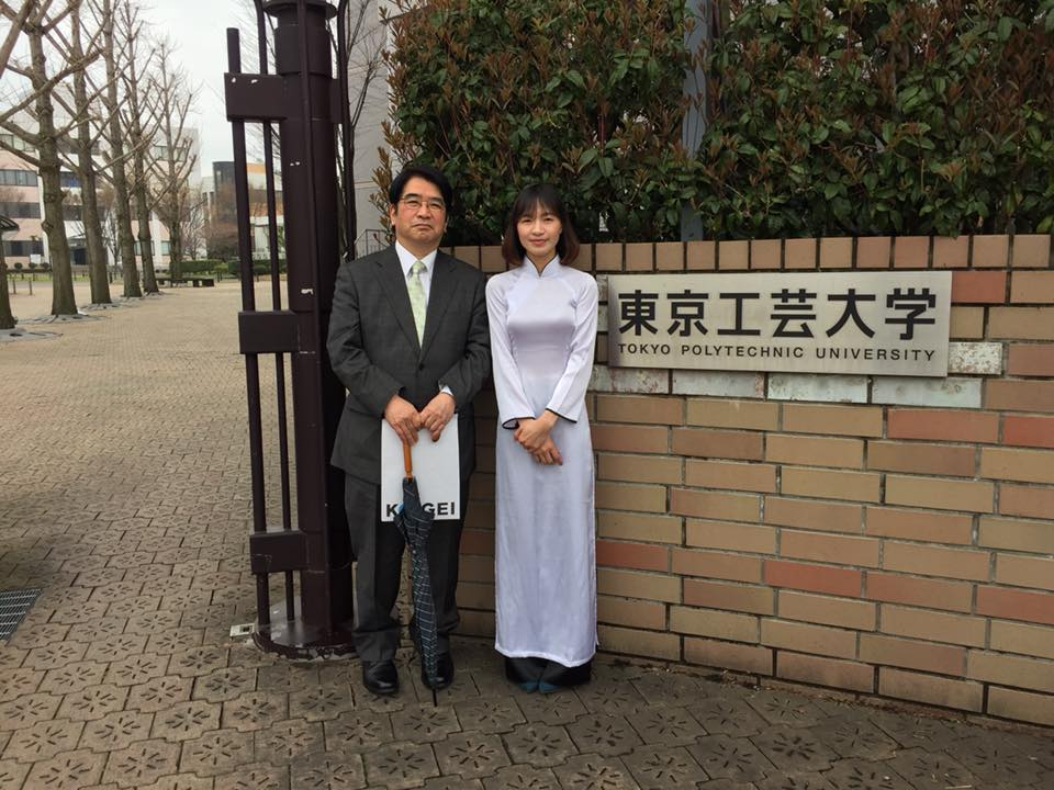Hình ảnh: Nguyễn Thị Linh khi nhập học Đại học Bách Khoa Tokyo sau 01 năm sang Nhật