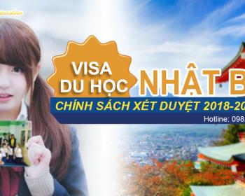 chính sách xin visa du học nhật bản