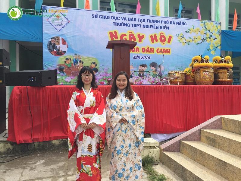 Ngày hội văn hóa dân gian tại trường THPT Nguyễn Thượng Hiền - Ảnh 2