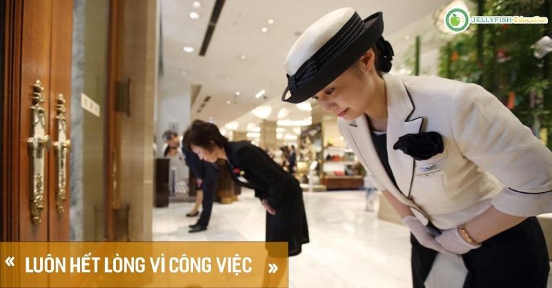 Phong cách làm việc của người Nhật là luôn hết lòng với công việc