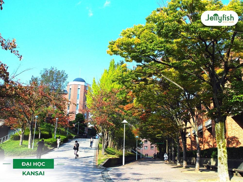 Khuôn viên trường Kansai - ảnh 3