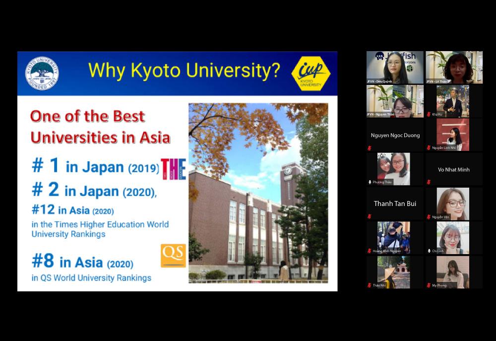 Tổng kết hội thảo online Top 3 học bổng du học Nhật Bản giá trị nhất 2022