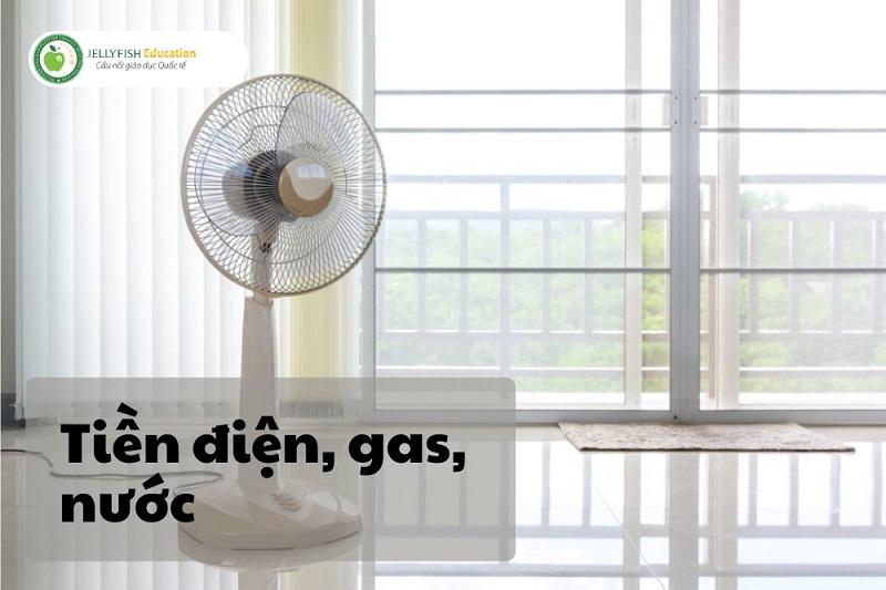 Chi phí sống tại Nhật 1 tháng - Tiền điện, nước, gas