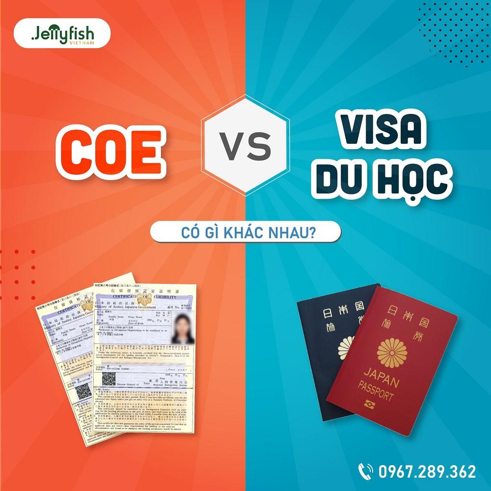 COE và Visa du học Nhật Bản có giống nhau?