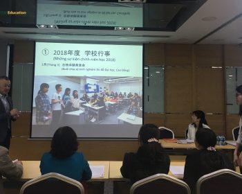 Hình ảnh của buổi họp phụ huynh trường TIUJ năm 2019