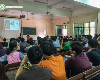 Tại buổi seminar, đại diện Tập Đoàn Jellyfish đã có đôi lời phát biểu về những thách thức và cơ hội mở ra cánh cửa làm việc tại Nhật của các bạn sinh viên sau khi tốt nghiệp.