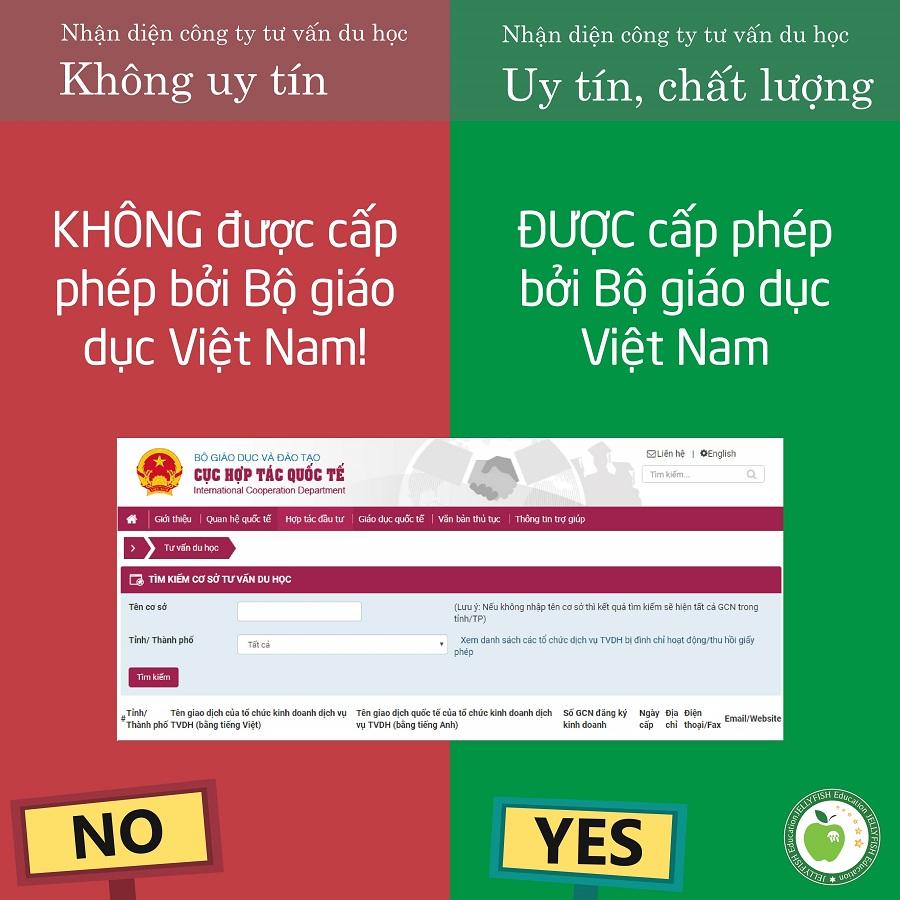 Được cấp phép bởi Bộ giáo dục Việt Nam