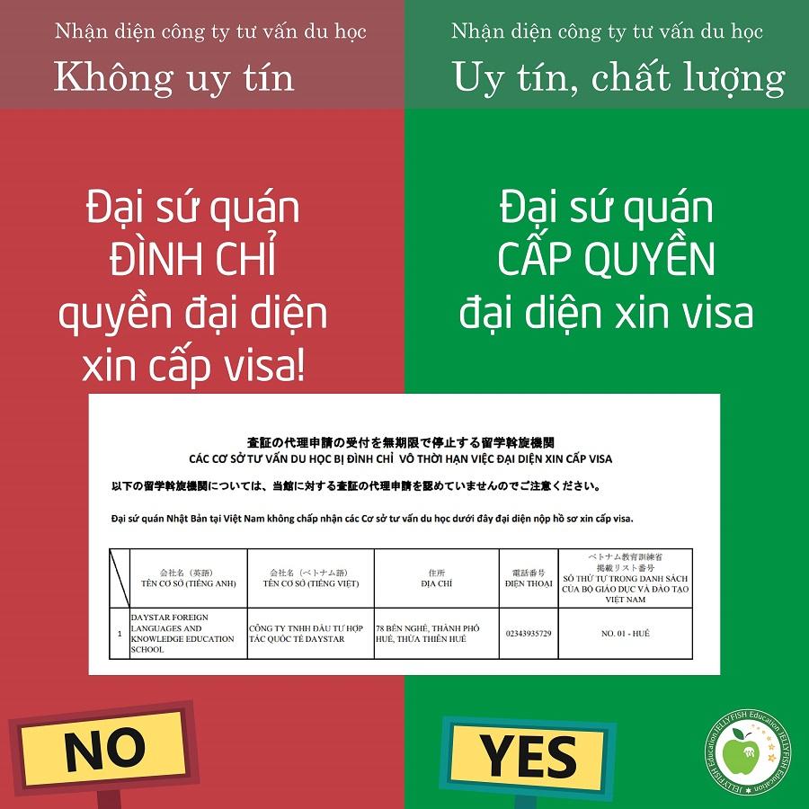 Không thuộc diện đình chỉ đại diện cấp visa của Đại sứ quán Nhật Bản