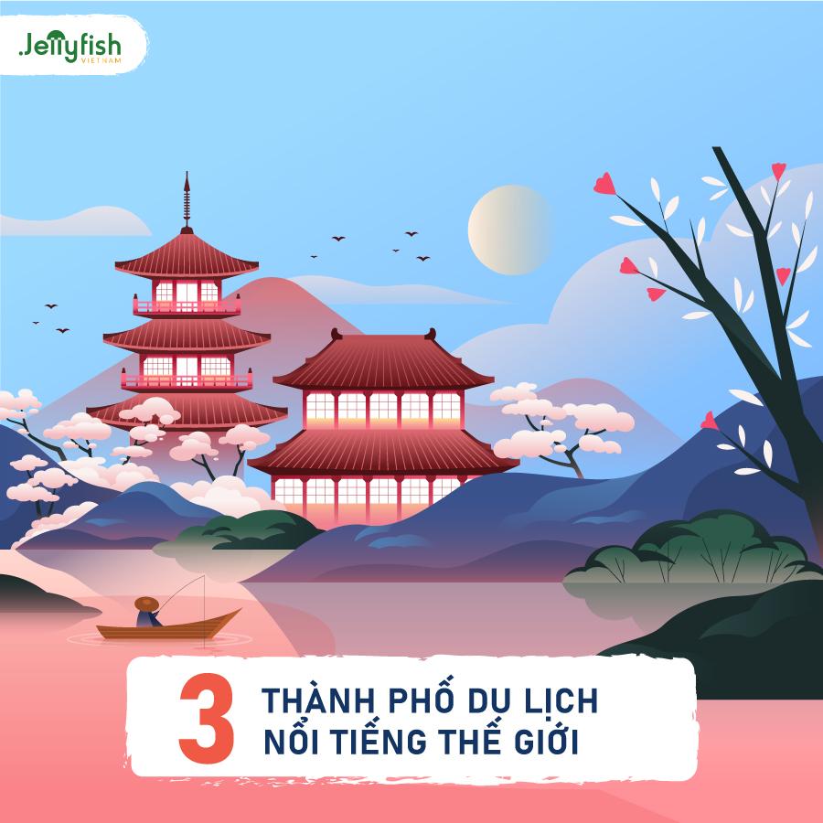Kyoto là thành phố du lịch nổi tiếng thế giới