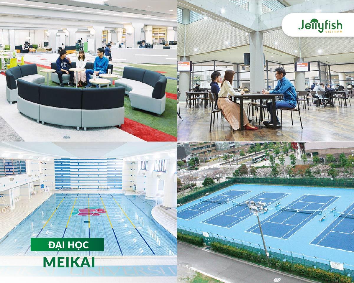Cơ sở vật chất của trường Đại học Meikai